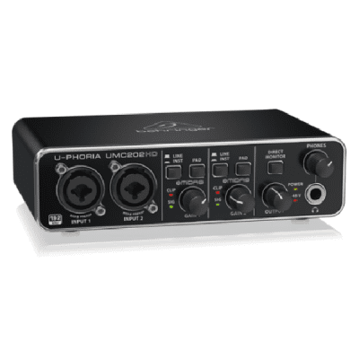 Behringer U-Phoria UMC202HD, 2 in, 2 out, 2x2, usb, soundcard, interface, Behringer near me, Behringer Cape Town