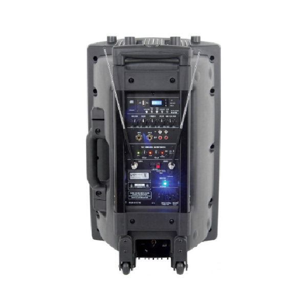 QTX QR15PA, powered, speaker, battery powered, outdoor, camping, auctions, QTX near me, QTX Cape Town