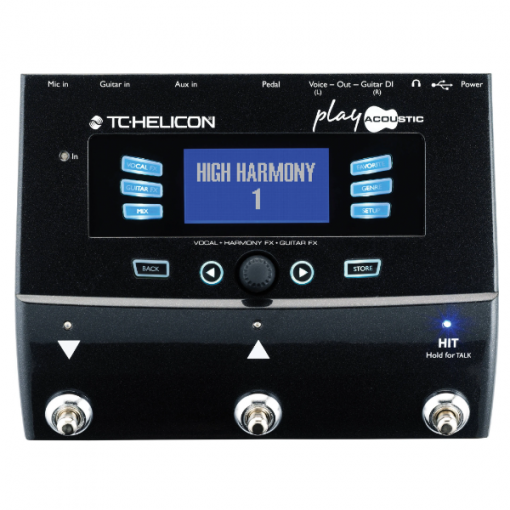 TC Helicon Play Acoustic, vocal, pedal, processor, harmony, PA, Singers, Solo performers, TC Helicon near me, TC Helicon Cape Town