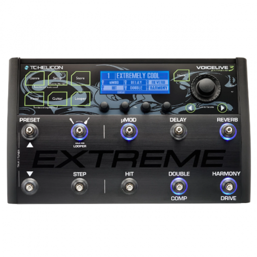 TC Helicon Voicelive 3 Extreme, vocal, processor, pedal, advanced, harmoniser, singers, band, studio, gigs, TC Helicon near you, TC Helicon Cape Town