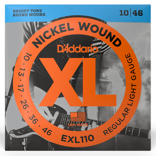 D'Addario, EXL110, Electric, Strings, 10-46, Nickle Wound, Electric Strings Near Me, Electric Strings Cape Town,