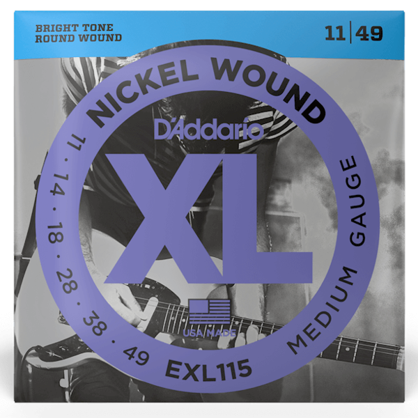 D'Addario, EXL115, Electric, Strings, 11-49, Nickle Wound, Electric Strings Near Me, Electric Strings Cape Town,