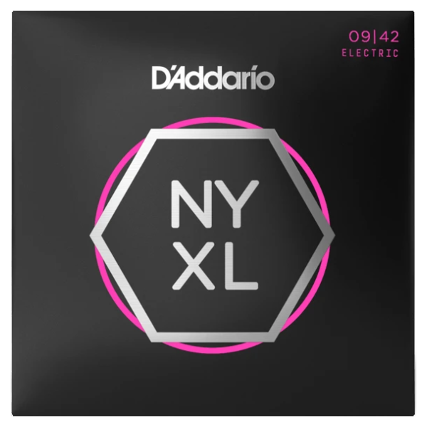 D'Addario, NYXL0942, Electric, Strings, 09-42, Nickle Wound, Electric Strings Near Me, Electric Strings Cape Town,