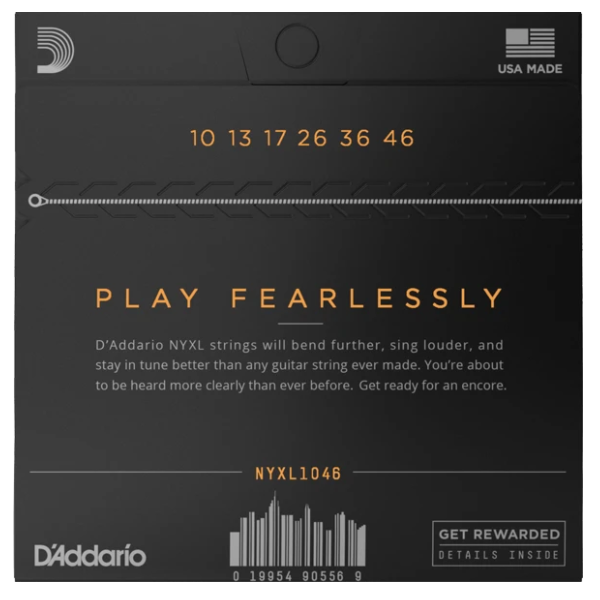 D'Addario, NYXL1046, Electric, Strings, 10-46, Nickle Wound, Electric Strings Near Me, Electric Strings Cape Town,
