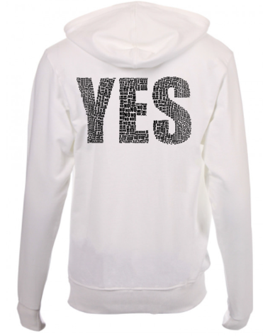 Yes Printed Hooded Sweater